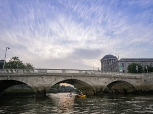 Kayaking on the River Liffey in Dublin